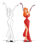 Jessica Rabbit for art jam by jwebster45206