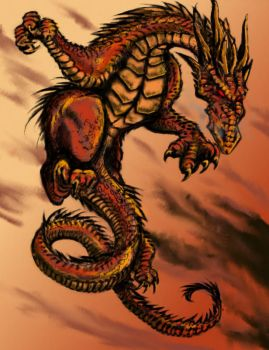 Dragon Jump - colored by Astanael