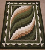 Custom Bargello quilt by quiltfreak8