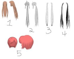 MMD hairs download by Habaloid