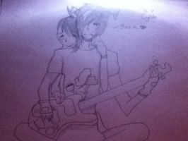 Me and my oc Clyde 2 by Demonic-Twins