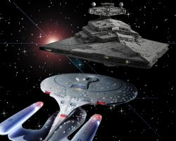 Enterprise meet Star Destroyer by Kwindu