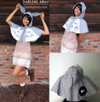 Totoro - Studio Ghibli - Hooded Cosplay Capelet by DarlingArmy