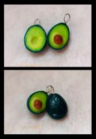 avocado earrings by PAPIPI