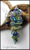 Glass Perfume Bottle Vessel by Beadworx