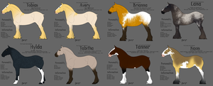 Possible Adoptables from Kirinia by TwiWolf