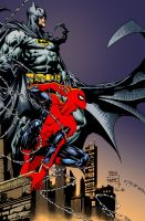 Spiderman and Batman II by Rustyoldtown