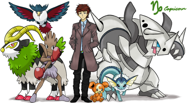 Pokemon Trainer Capah (Capricorn) by Call-Of-The-Indie