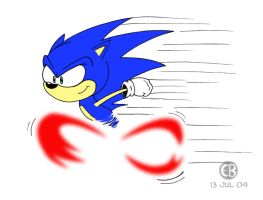 Fastest Hedgehog Alive by Cartoon-Eric
