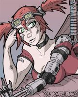 Borderlands 2 - Gaige (preview) by hombre-blanco