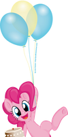 Pinkie's Flying Dessert by JcosHooves