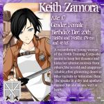 104th Training Corps Profile: Keith Zamora by SoulReaperlady