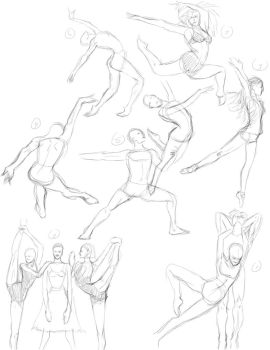 1000 gestures - 1 to 7 by JR-Lo