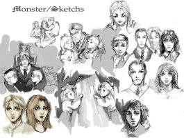 sketches of 'Monster' by DeyonSide