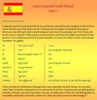 Learn Spanish- Part 1 by BloodRedVampress