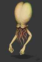 Creature Design: Human Squid by kbell92