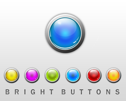 bright buttons by okiz