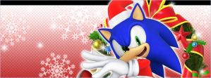 sonic christmas wall paper by PuertoricanMiku