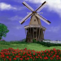 Dutch Windmill by davincipoppalag