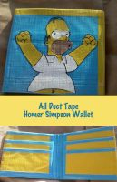Duct Tape Homer Simpson Wallet by thejenty