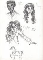 JSMN: character sketches 5 by Agatha-Macpie