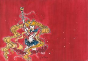 Sailor Moon in Red by kamui1st
