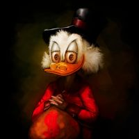 Portrait of Scrooge McDuck by jaggudada