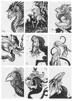 sketch cards aug 2016 by thedancingemu