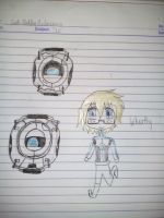 Request - Wheatley Core and Chibi by Khateley