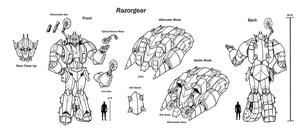 Razorgear Character sheet by Laserbot