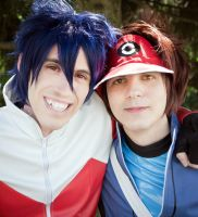 Hugh and Nate(Pokemon BW2) - Friendship is forever by JapoCW