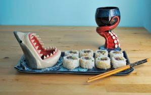 Nautical Sushi Set by aviceramics