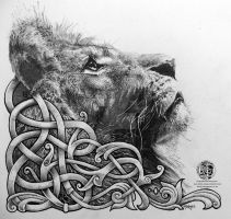 Celtic Lion by Tattoo-Design