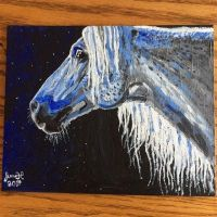 Horse acrylic painting by Fforestwolf