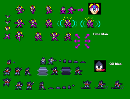 Timeman and Oilman 8-bit by spdy4