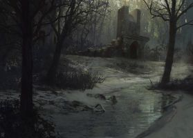 Frozen Swamp by seanyangart