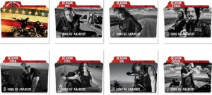 Sons of Anarchy Folder Icons by nellanel