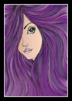 Purple Haired Maiden by pixelatedxdeath