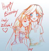 Happy late birthday lady zelda by Kathisofy
