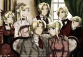 FMA- EdWin Family Portrait part 1 by amburger91