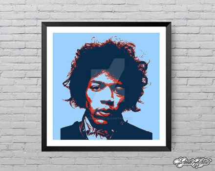 Limited edition Hendrix by GandiArtist