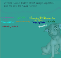 DEVIANTS AGAINST BSL by Howlingwildwolf