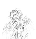 OVERWATCH - Mercy - Linework by drbjrart