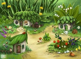 Tozus - Gnome Town in Final Fantasy 3 by shizonek