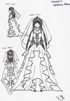 Yamiyo's wedding dress by CrazyKitty77