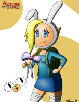 Adventure Time-Fionna and Cake by Dee-Artist
