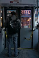 Through the Bus Doors 6 by bowtiephotography