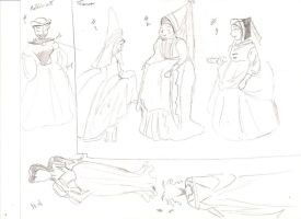 Old medieval costumes by anelphia
