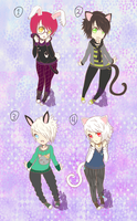 Uke adopts: Nekos n Usagis .:Closed!:. by Glass-Moon-Neko