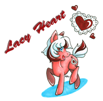 Pony OC: Lacy Heart by KGScribbles